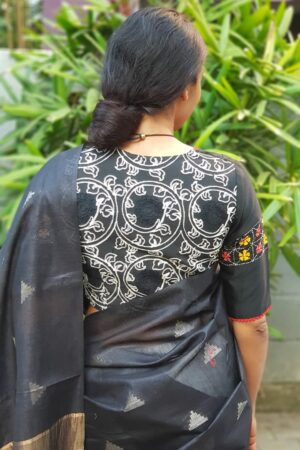 black and white cotton blouse1