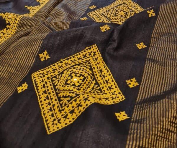 black zari border tussar3