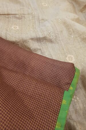 brown with beige pallu3