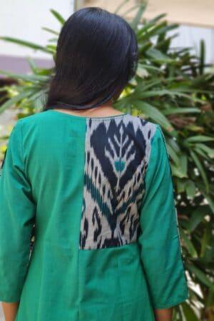 green cotton kurta1