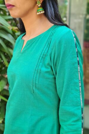 green cotton kurta2