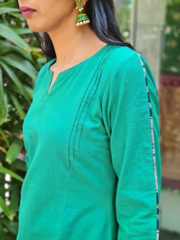 green cotton kurta2