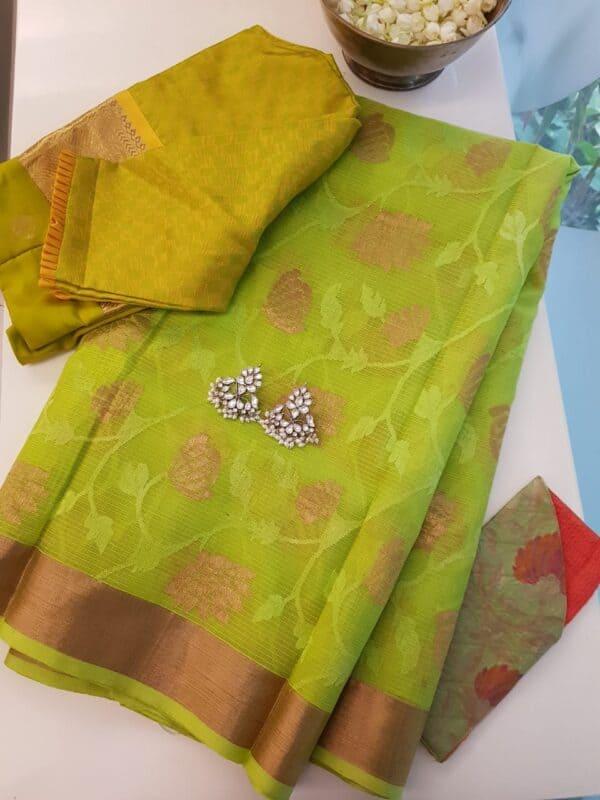 green kota saree