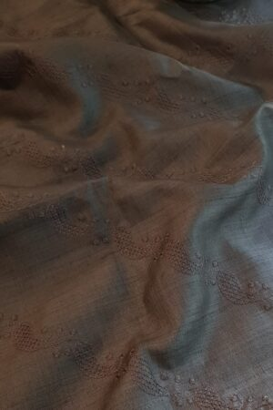 grey tussar saree with embroidery1