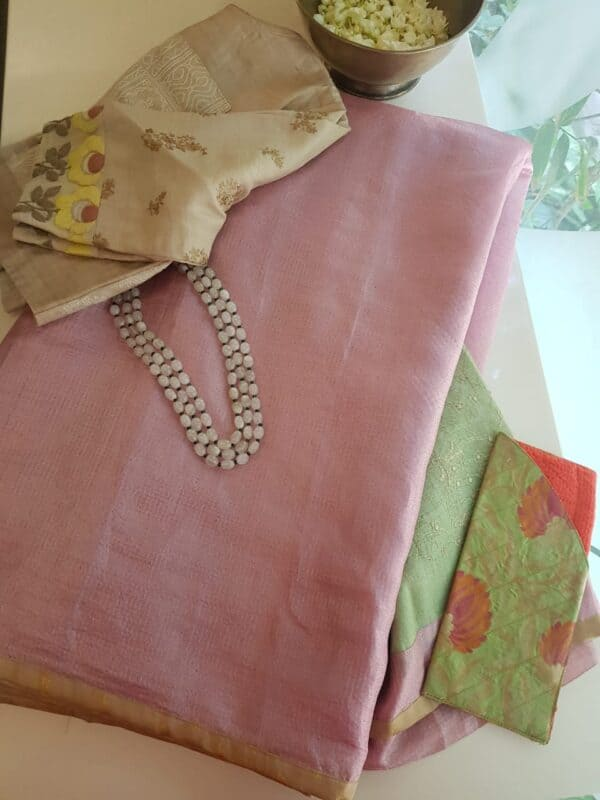 light pink with pale greeen