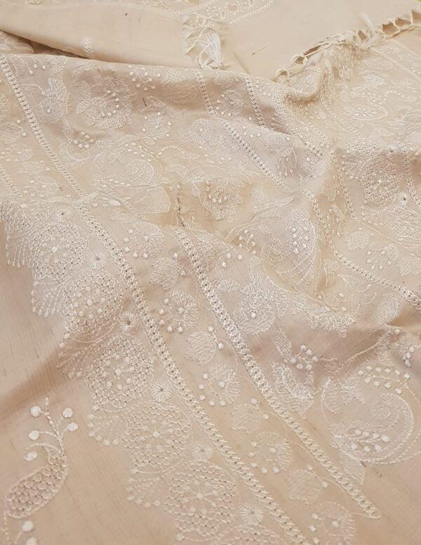 natural desi embroidered tussar saree1