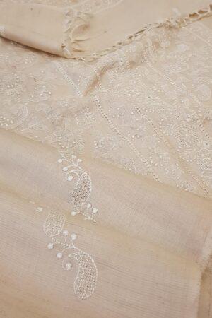 natural desi embroidered tussar saree2