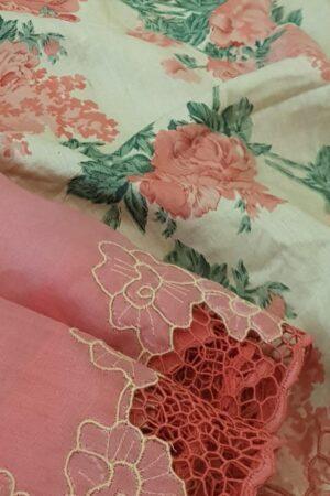 pink organza saree with cutwork and tussar pallu3