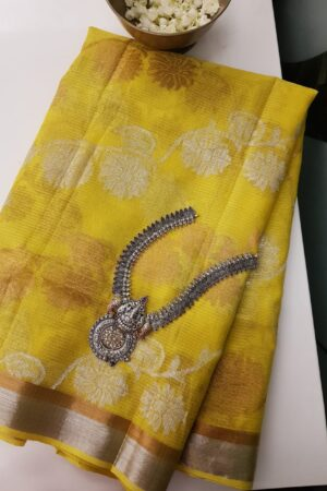 yellow kota saree