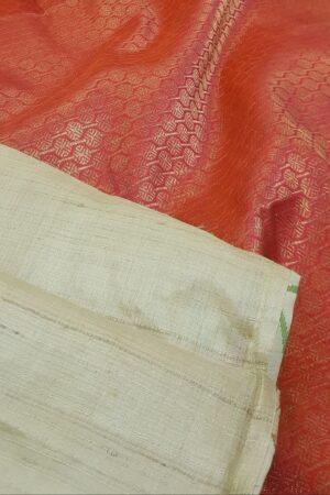 beige with red zari pallu1