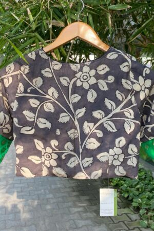 black and beige kalamkari blouse1