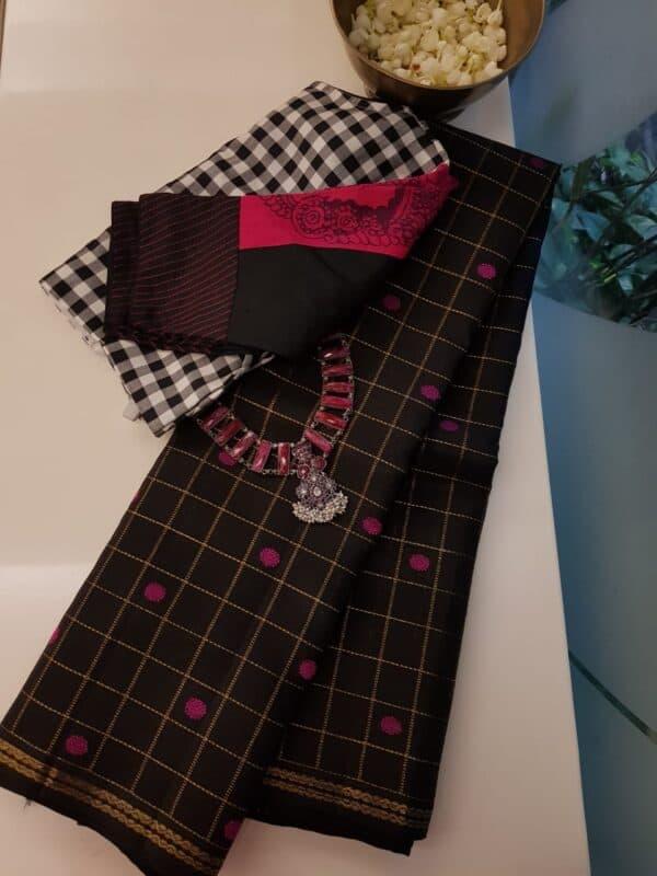 black kora with pink buttas
