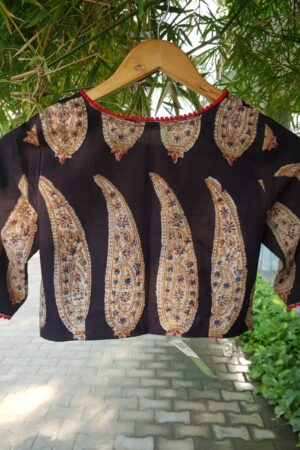 black paisley blouse