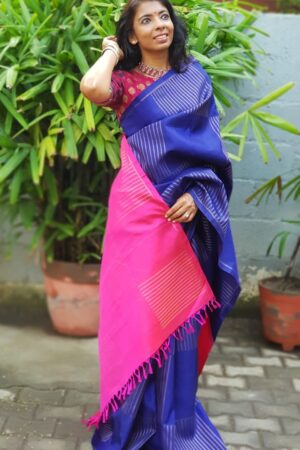 blue and pink muthu seer