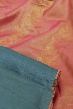 blue with peach silk pallu1