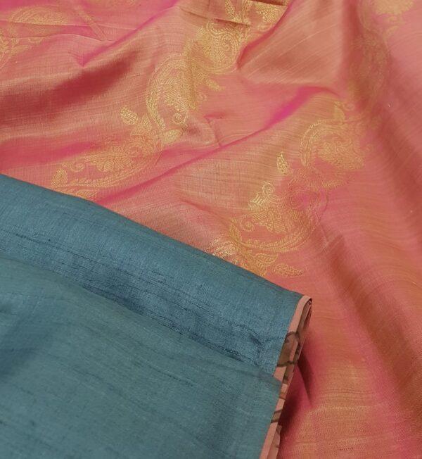 blue with peach silk pallu1