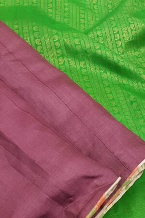 burgundy with green pallu3
