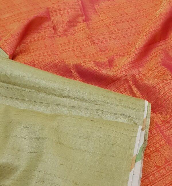 elaichi green with silk pallu1