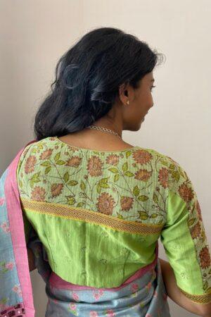 green cotton blouse