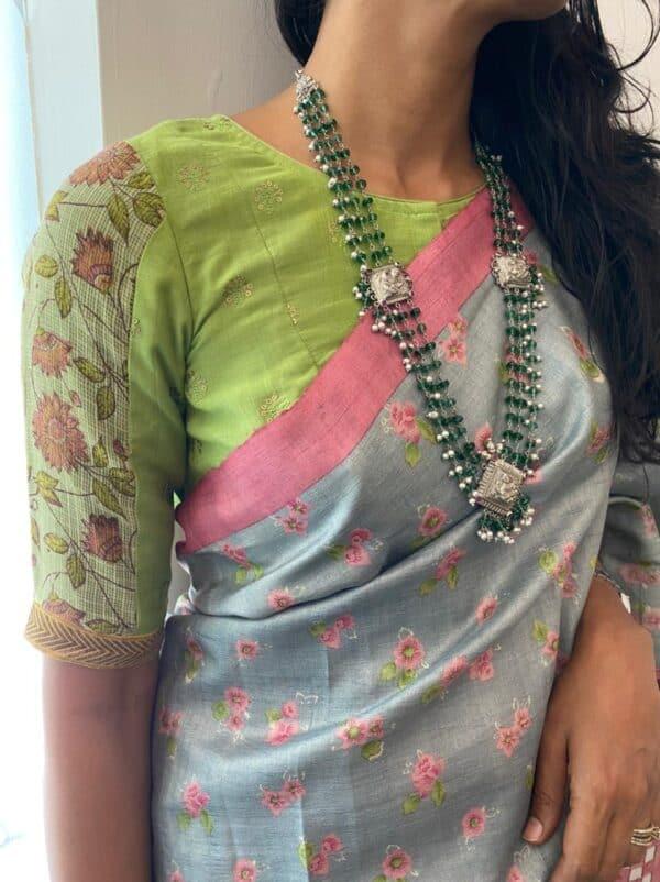 green cotton blouse1