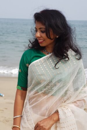green silk blouse2