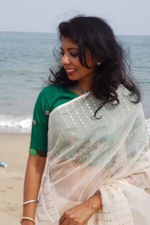 green silk blouse2