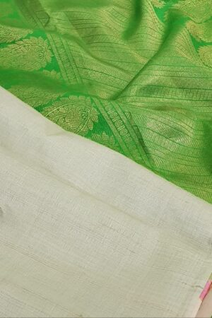 green with green silk pallu1