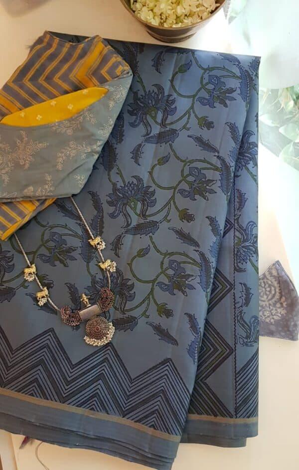 grey bp saree