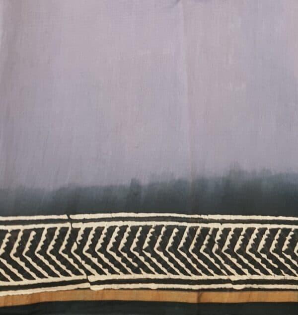 grey shaded block printed chanderi saree3