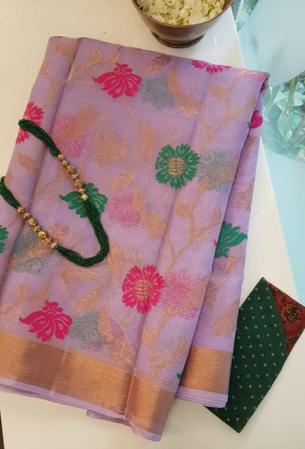 lilac with meena work