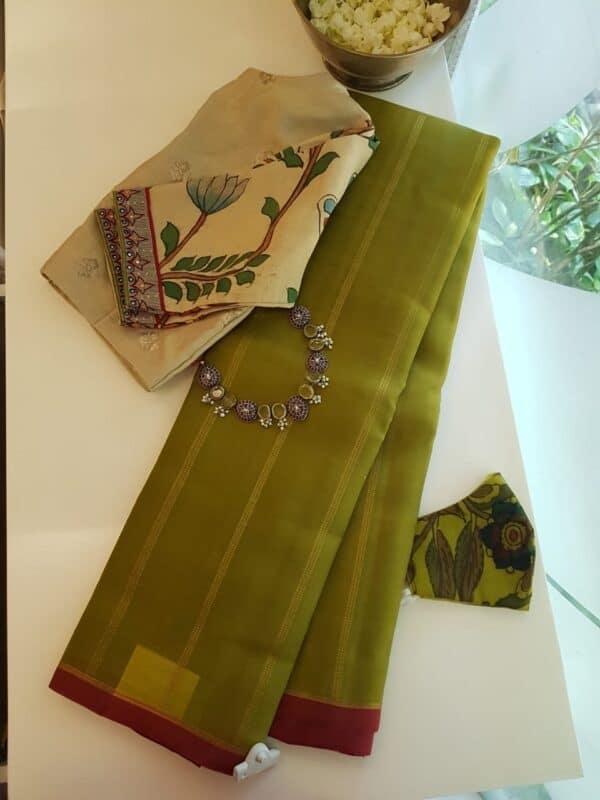olive green kora silk4