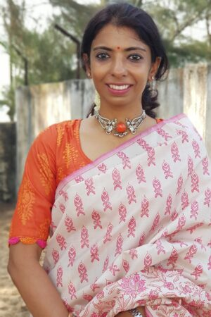 orange dhabu blouse