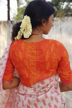 orange dhabu blouse1