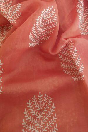 orange maheshwari saree1