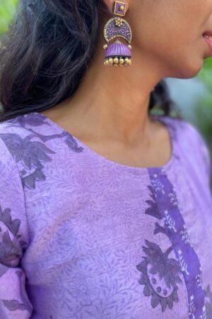 purple chanderi kurta1