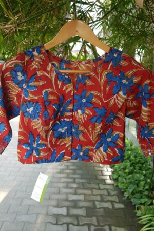 red cotton blouse1