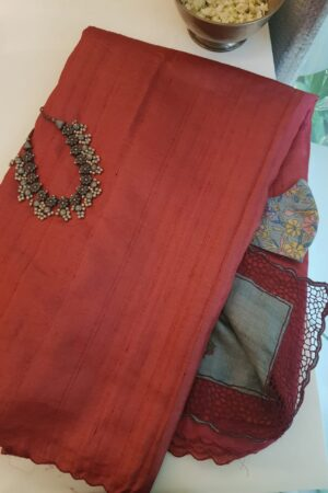 red with grey pallu2
