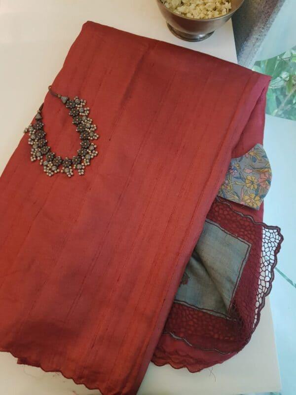 red with grey pallu2