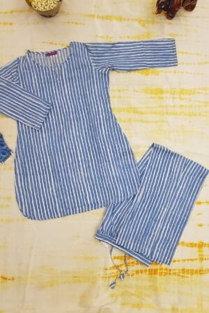 striped blue pj
