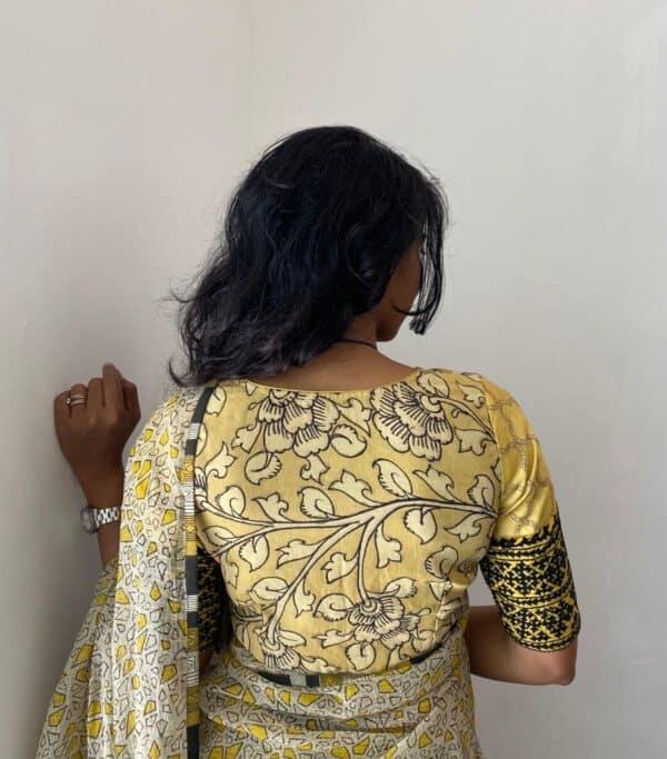 yellow kalamkari blouse2
