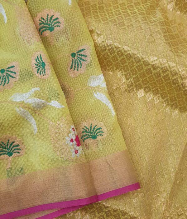 yellow with meena work1