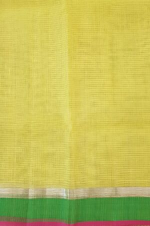 yellow with silver zari and meena work3