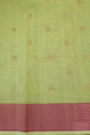 yellow with silver zari butta and meena border3