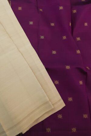 beige with violet dupatta