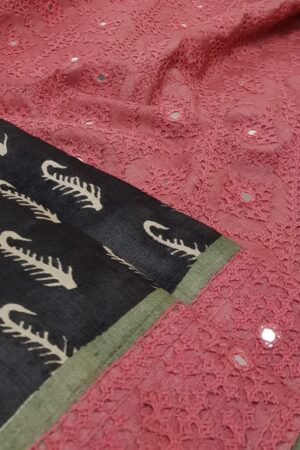black and beige with pink and russian green border1