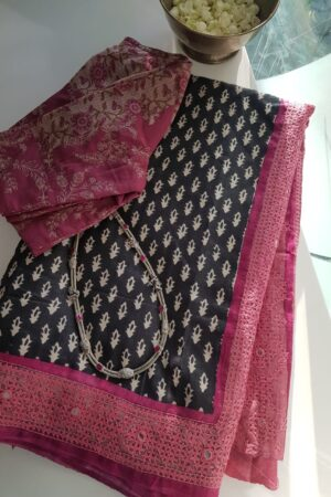 black and beige with pink border1