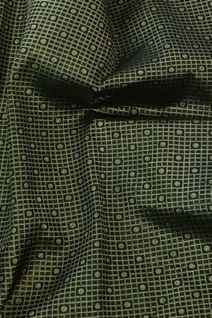 black korvai silk saree with 2 tone border2