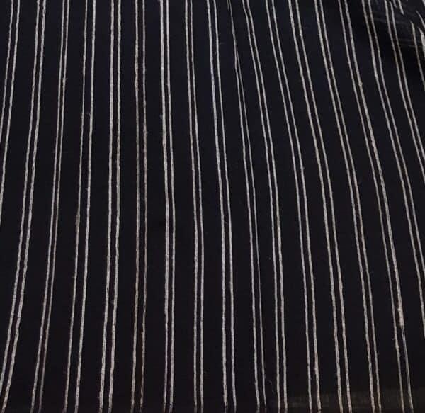 black tectured cotton saree2