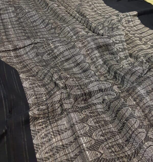 black tectured cotton saree3
