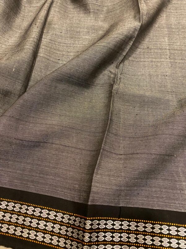 black vidarba saree with block print2